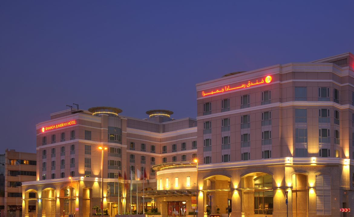 Front Side Night time Ramada Jumeirah Hotel